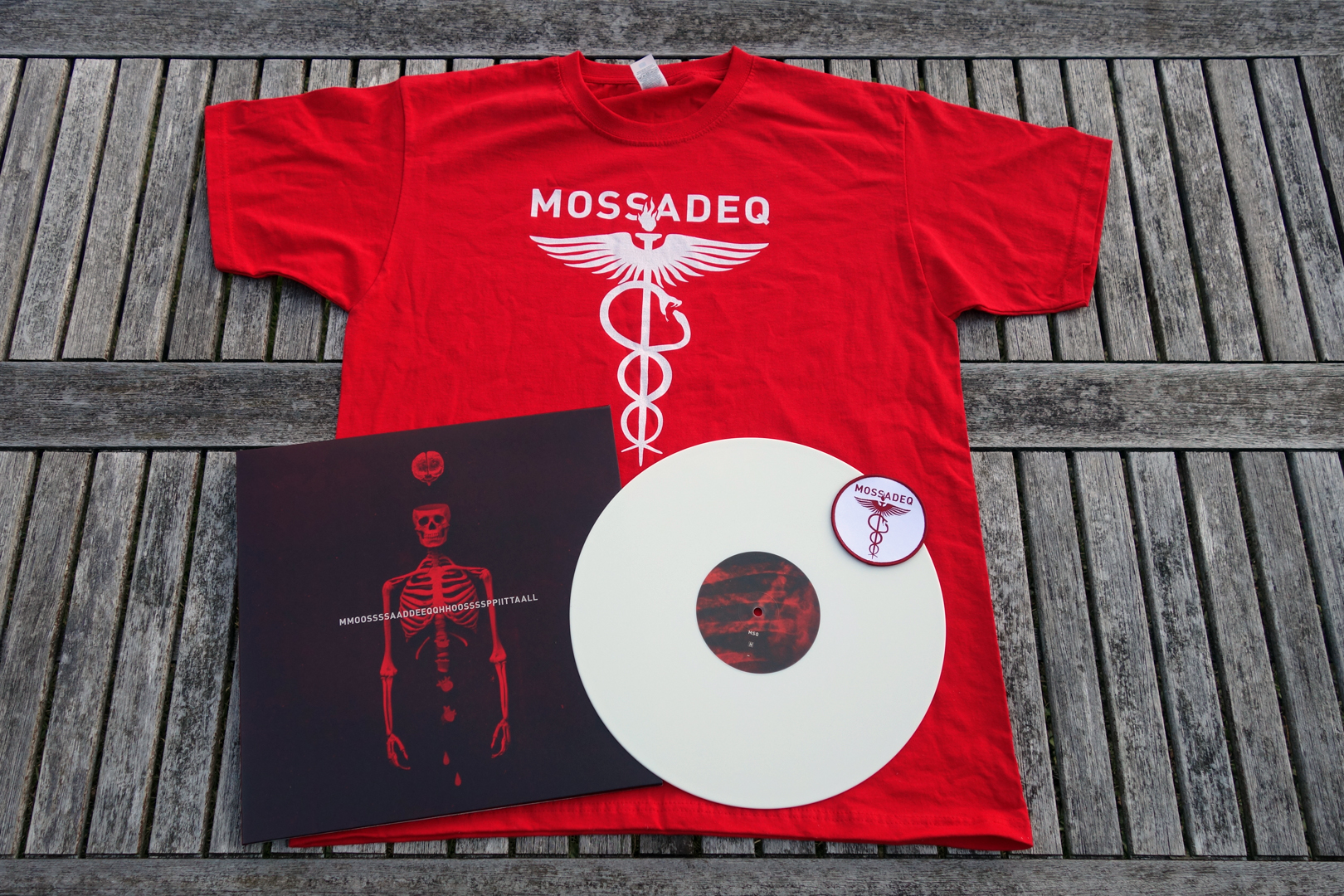 Mossadeq – Hospital (VINYL Bundle RED//Red T-Shirt+Tape+Patch)