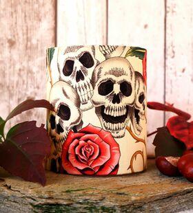 Skulls n Roses Windlicht