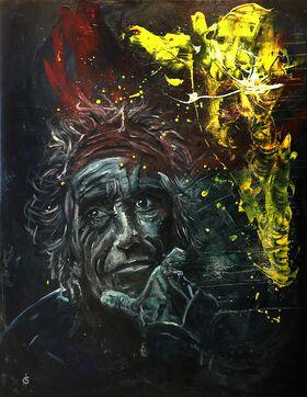 Art: Keith Richards - Ölgemälde