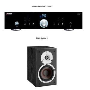 Verstärker -  Advance Acoustic ClassicLine X-i50BT / Kompaktlautsprecher - DALI Spektor 2 Esche Schwarz / LS-Kabel 3 m