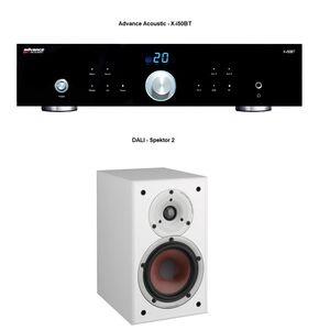 Verstärker -  Advance Acoustic ClassicLine X-i50BT / Kompaktlautsprecher - DALI Spektor 2 Weiß / LS-Kabel 3 m